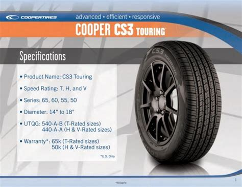 Cooper Tire Cs3 Review Cooper Cs3 Touring 90000019346 Tires Cooper