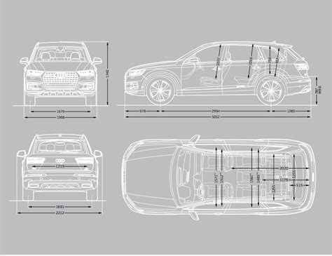 Audi Q7 Interior Dimensions by Audi Q7 Sizes And Dimensions Guide Carwow