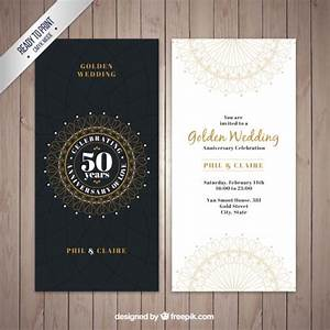 classic golden wedding invitation vector free download With golden wedding invitations free downloads