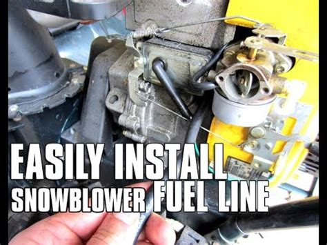 easily install fuel    snowblower