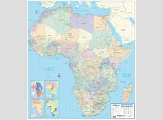 Africa Label Map South Minerals 3