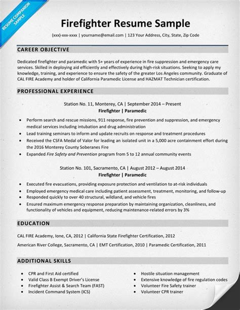 Sle Resume With Picture Template by Firefighter Resume Template Downloadable Firefighter