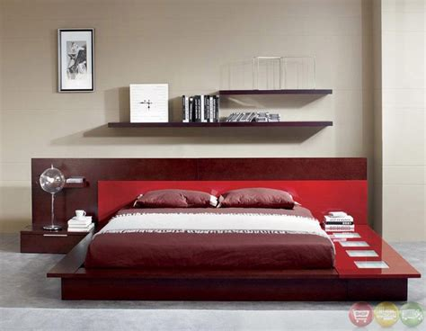 rimini contemporary walk  platform bed  lights