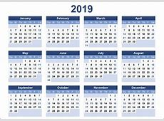 Free Yearly Printable Calendar 2019 with Chinese Holiday