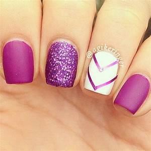 Chosen purple nail art designs for creative juice