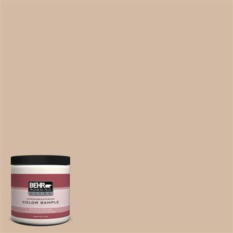 behr premium plus ultra 8 oz 290e 3 classic taupe matte interior exterior paint and primer in