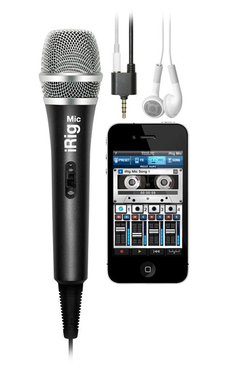 microphone for iphone ik multimedia irig mic handheld condenser microphone for