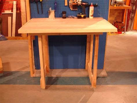 how to make a work table how to make a fold down workbench how tos diy