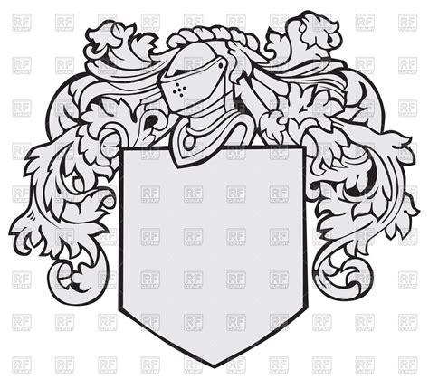 template  medieval heraldic emblem shield