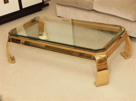 gold glass top coffee table glass top coffee table with gold frame curved legs