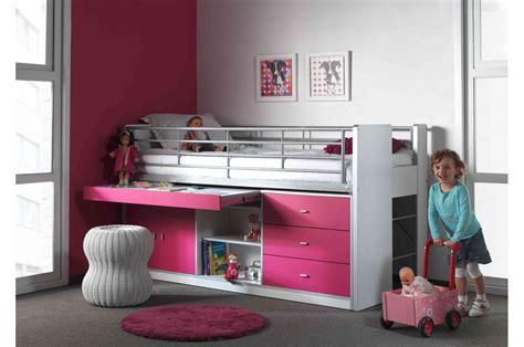 lit et bureau lit combiné 5 coloris au choix 90x200 cm bureau