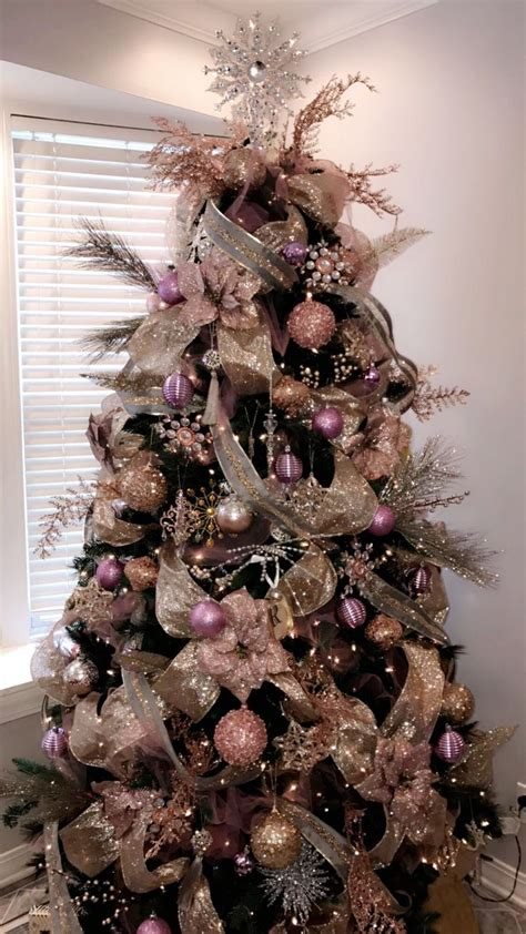 best 25 pink christmas tree decorations ideas on
