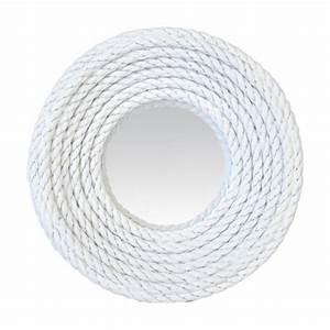 Miroir Rond Corde : miroir rond corde blanche ~ Teatrodelosmanantiales.com Idées de Décoration