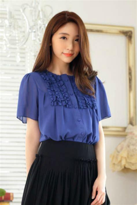 blouse korea baju kerja wanita korea busana kerja