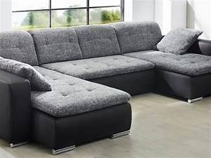 Kunstleder Sofa Schwarz : sofa couch ferun 365x200 185cm webstoff anthrazit ~ A.2002-acura-tl-radio.info Haus und Dekorationen
