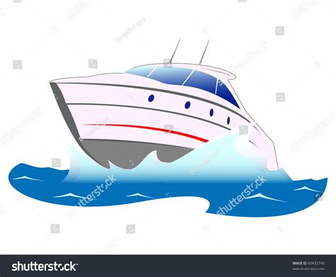 Fast Boat Vector by Speed Boat Stock Vector 60432748 Shutterstock