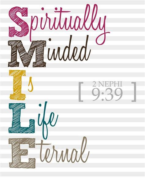 smile spiritually minded  life eternal diary