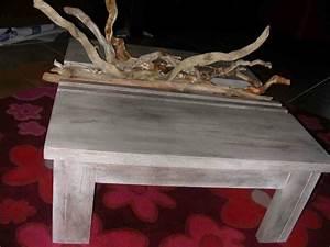 Table Basse En Bois Flotté : table basse et bois flott cr ations meuble en carton de anne1963 n 36776 vue 6284 fois ~ Teatrodelosmanantiales.com Idées de Décoration