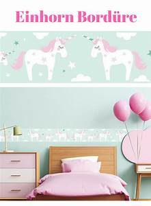 Tapete Babyzimmer Mädchen : einhorn tapete bord re bord re selbstklebend einhorn rosa mint wandbord re kinderzimmer ~ Frokenaadalensverden.com Haus und Dekorationen