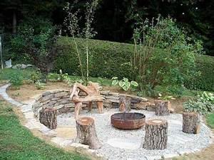 unsere neue feuerstelle garten pinterest neuer With feuerstelle garten mit bonsai bonsai
