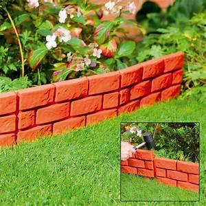 Stone, Brick, Cobbled, Effect, Plastic, Garden, Edging, Plant, Borders, Lawn
