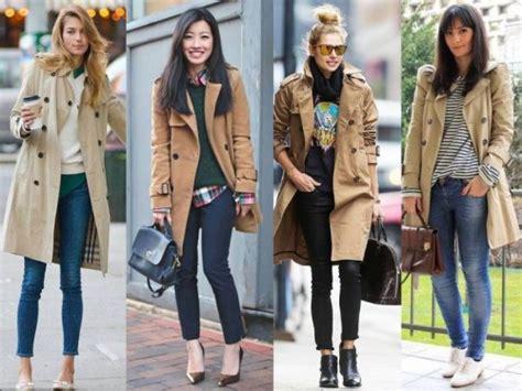 trench coat street styles  trendy girls