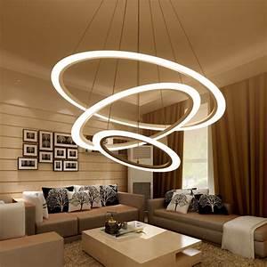 Lustre Design Salon : moderne lustre led cercle r glable anneau lustre lumi re pour salon gommage plexiglas lustre ~ Teatrodelosmanantiales.com Idées de Décoration