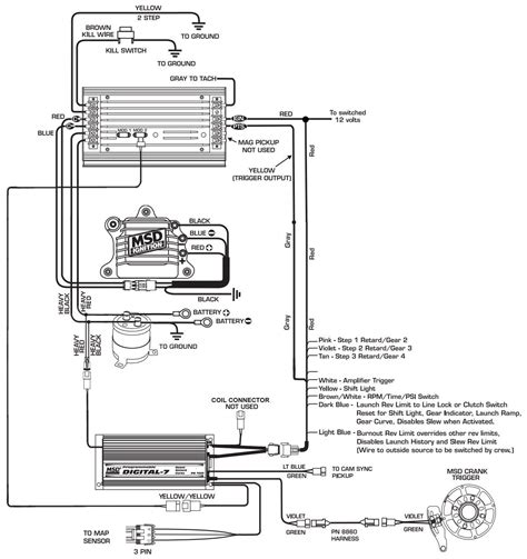 Msd Coil Tach Wiring by Msd 6al 2 Wiring Diagram Collection Wiring Diagram Sle