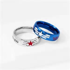 captain america wedding band stucky ring winter soldier captain america stainless steel