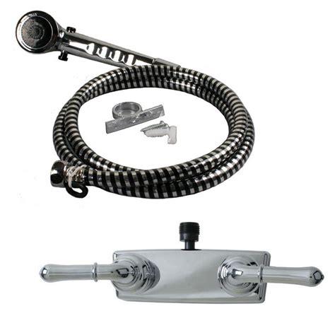 Rv Shower Parts - 4 quot shower faucet rv marine chrome w chrome handles