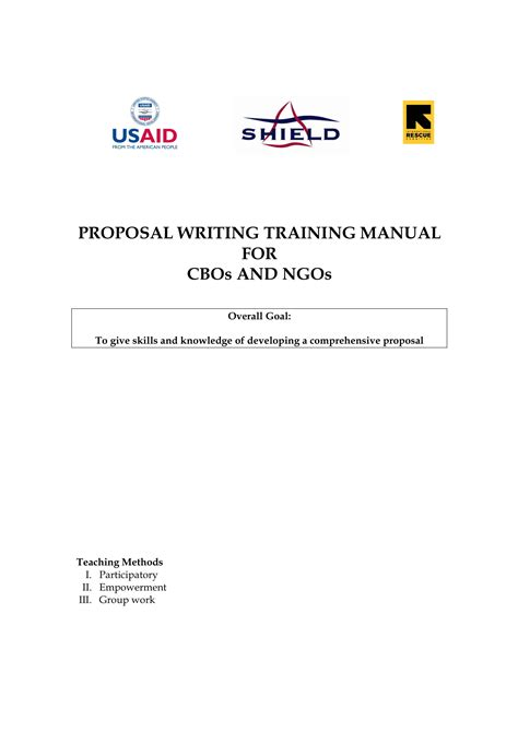 proposal writing examples  word examples