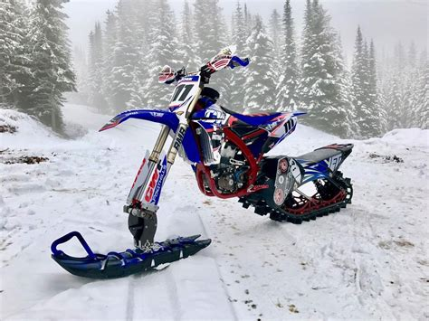 motocross snow bike snow bike racing is now officially a thing the