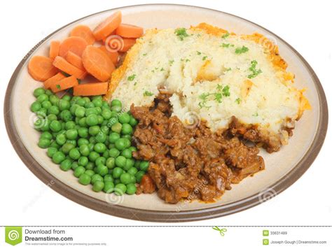 a meal shepherds pie meal isolated on white stock image image 33631489