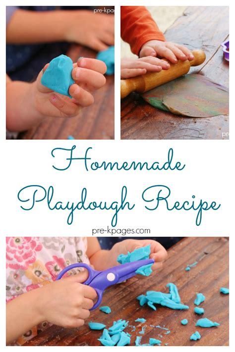 recipes for preschoolers to make playdough recipe pre k pages 925