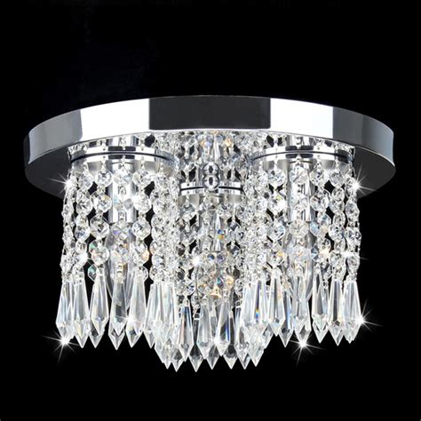 chrome and flush mount chandelier