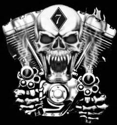 Skull with Guns Logo