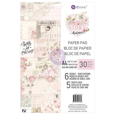 Prima Love Story Collection A4 Paper Pad