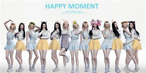 HAPPY MOMENT poses at Flower Chamber » Sims 4 Updates
