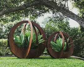 Stunning Outdoor Garden Sculptures Of Corten Steel