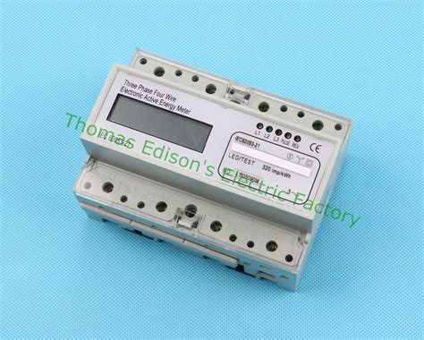 Din Rail Three Phase 10(100) A Electronic Kwh Energy Meter