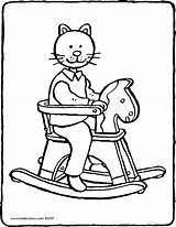 Rocking Horse Kiddicolour Drawing Colouring Receiver Mail sketch template