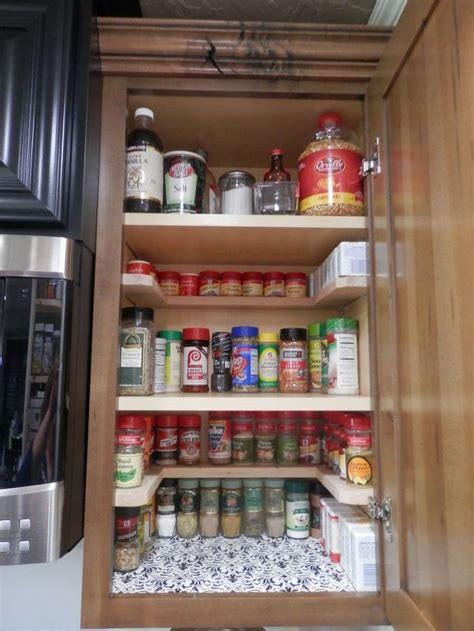 diy kitchen cabinet organizers diy spicy shelf organizer hometalk 6826
