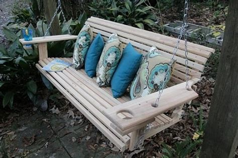foot cypress porch swing  cupholders