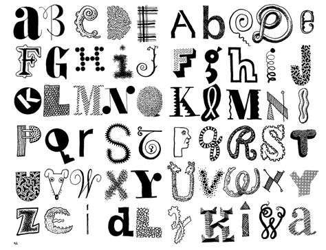 doodle lettering styles a z graffiti art collection
