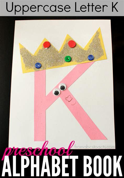 letter k crafts for preschool or kindergarten easy 339 | Alphabet Book for Preschoolers Uppercase Letter K Craft