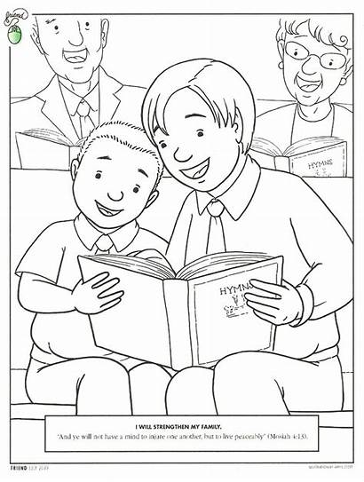Coloring Pages Church Primary Lds Sheets Lesson