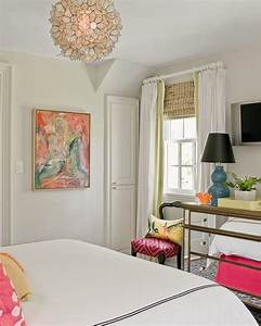 Friday Eye Candy: White Walls + Pop of Color Art - A ...