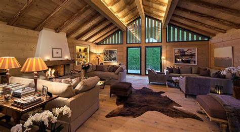 modern rustic luxury chalet rental near gstaad with outdoor tub