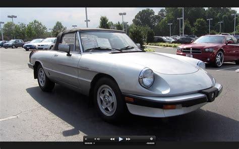 1984 Alfa Romeo Spider by 1984 Alfa Romeo Spider Veloce 2 0 5 Spd Start Up Exhaust