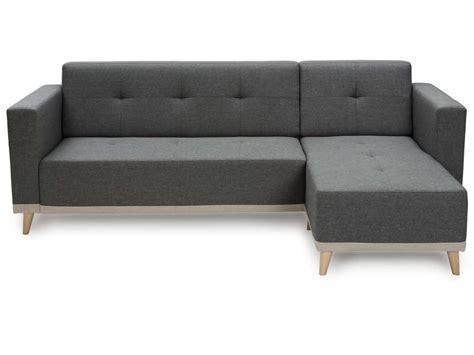 conforama canapé tissu canapé d 39 angle fixe 3 places en tissu coloris gris